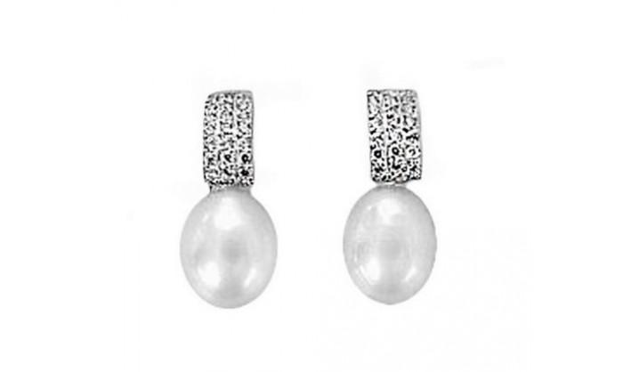 Pendientes circunf. en oro blanco con perla 212_54834-P/B/PE-CI