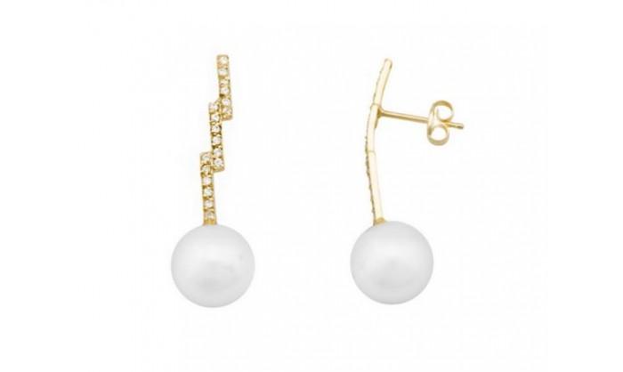 Pendientes en oro con perla 212_54908-P/A/PE-CI