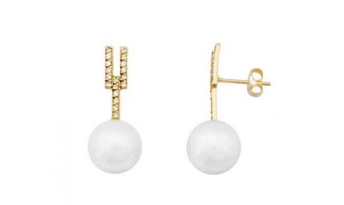 Pendientes en oro con perla 212_54912-P/A/PE-CI