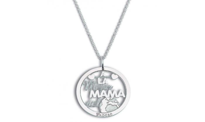 "Colgante plata  ""mamá eres genial"" 14.CO.M2"